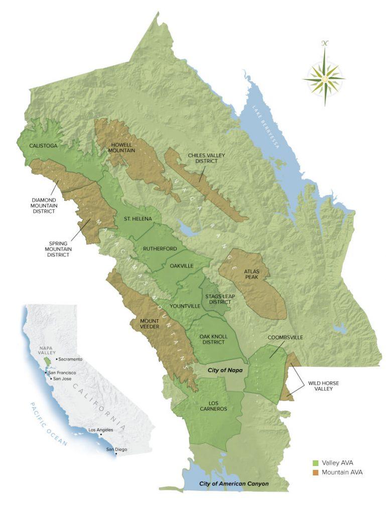 Napa Valley AVA Map